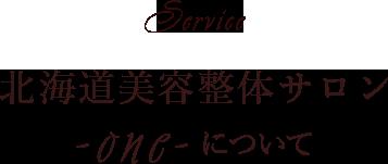 Service 北海道美容整体サロン Oneについて